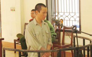 Bị cáo Bùi Mạnh Quyết tại phiên tòa