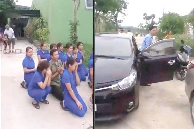 giáo viên quỳ lạy