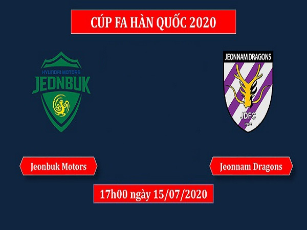 Nhận định Jeonbuk Motors vs Jeonnam Dragons, 17h00 ngày 15/07
