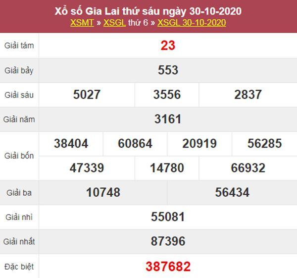 Soi cầu XSGL 6/11/2020 chốt bạch thủ lô Gia Lai thứ 6
