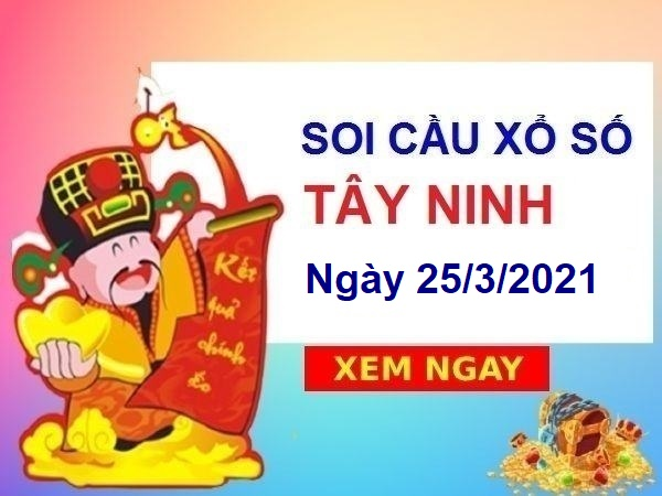 Soi cầu XSTN ngày 25/3/2021