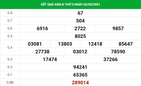 Phân tích kết quả XS Daklak ngày 09/03/2021